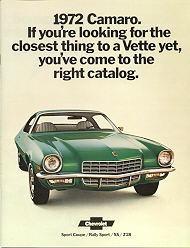 72 Camaro Green