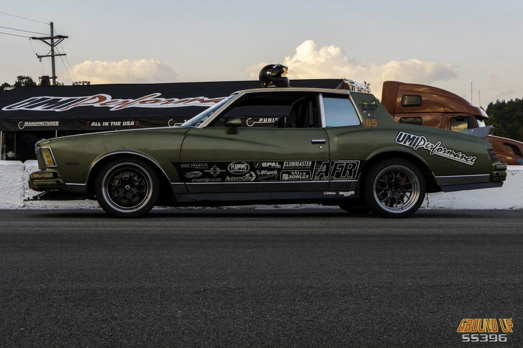 "UMI Performance's 1979 Monte Carlo Landau, dubbed the ""Green Machine"""