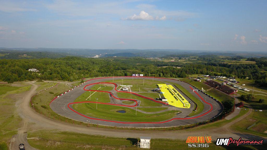UMI Performance Raceway Track Layout