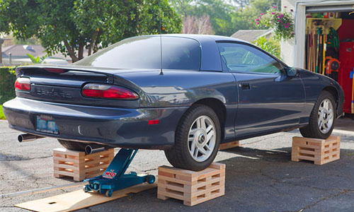 Get your car off the ground during storage.