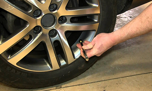 Check the tire pressure of your car.