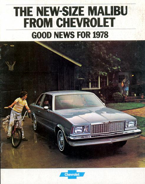 1978 Malibu Brochure Cover