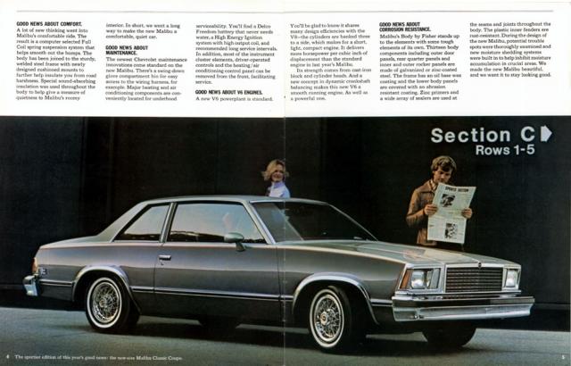 1978 Malibu Brochure (page 4 & 5)