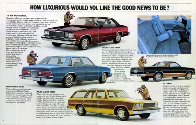 1978 Malibu Brochure (page 8 & 9)