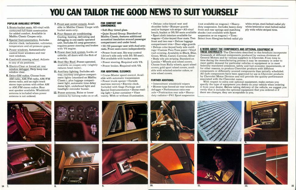 1978 Malibu Brochure (page 14 & 15)