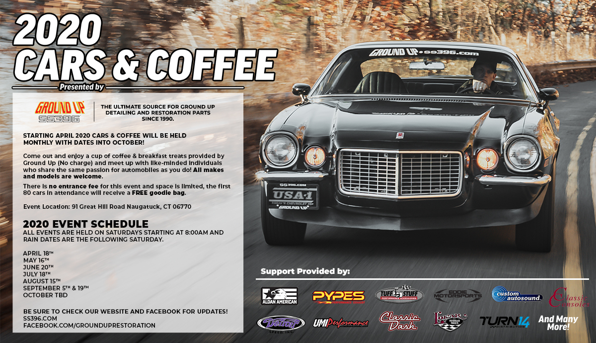 2020 Ground Up Cars & Coffee Event Flyer