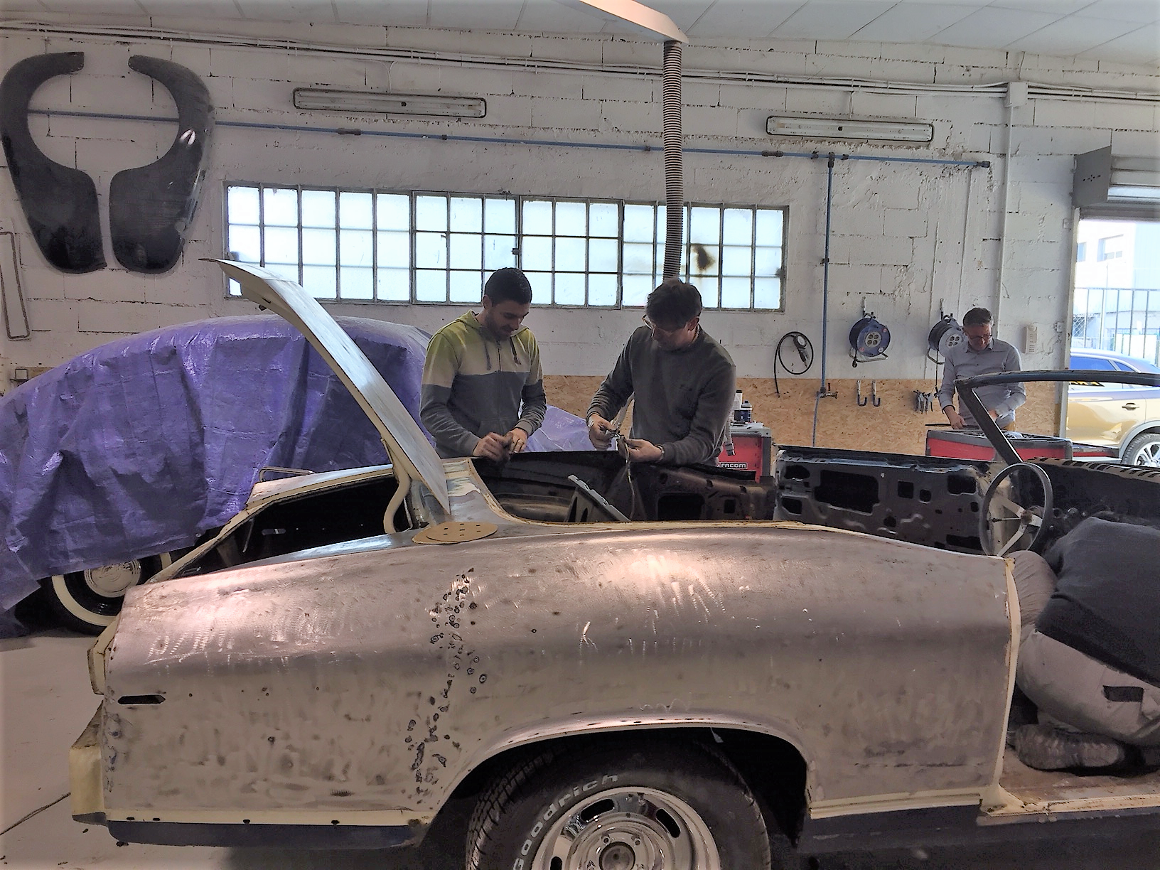 1969 Chevelle during restoration