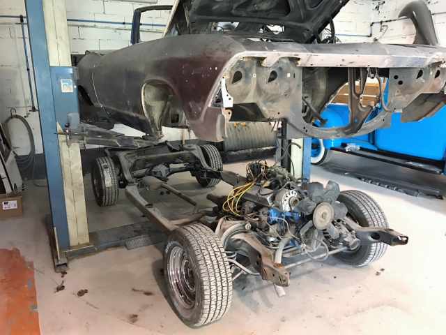 1969 Chevelle separating frame