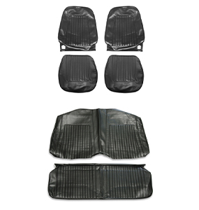1967 Camaro - 1968 Camaro Coupe Standard Bucket Seat Cover Kit, Black