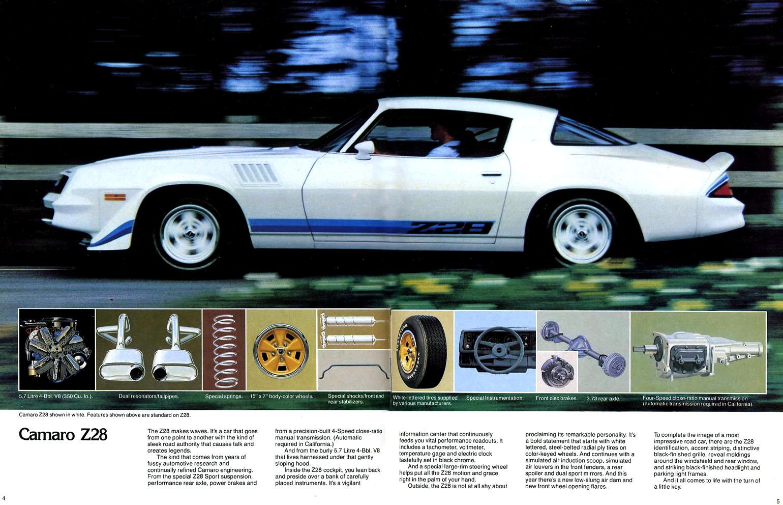 1979 Camaro OEM Brochure - Page 4 & 5