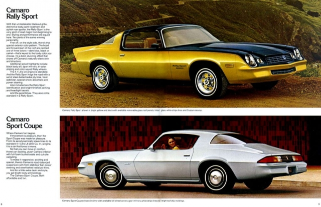 1979 Camaro OEM Brochure - Pages 8 & 9