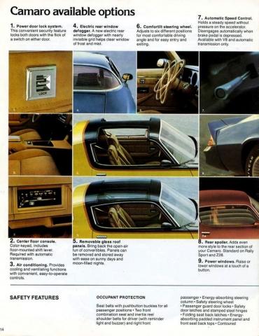 1979 Camaro OEM Brochure - Camaro Available Options