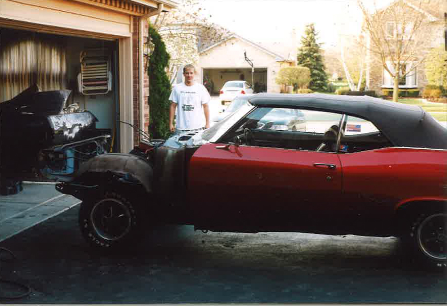 1969 Chevelle SS396 Convertible (before restoration)