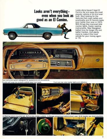 1970 El Camino OEM Brochure Page 4
