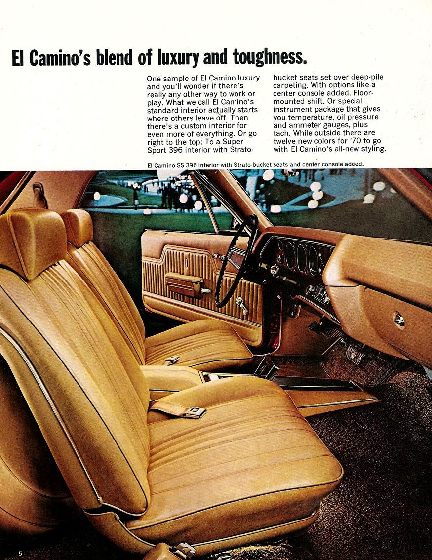 1970 El Camino OEM Brochure Page 5