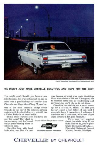 1964 Chevelle Print Ad