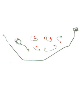 1971 Chevelle - 1972 Chevelle Front Brake Lines 4pc Power Disc
