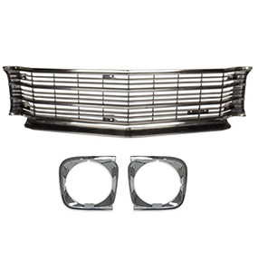 1972 chevelle ss grille kit with headlamp bezels