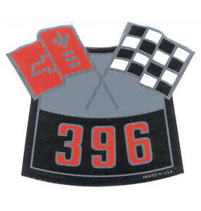 big block 396 air cleaner decal