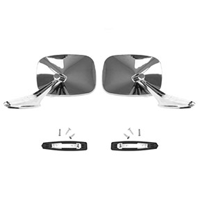 1970 Nova Rectangular Side View Mirror Kit