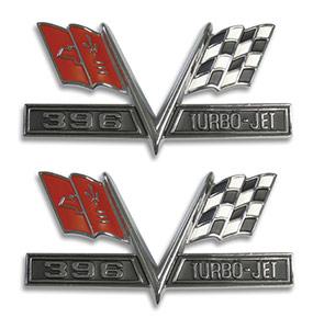 396 fender emblem
