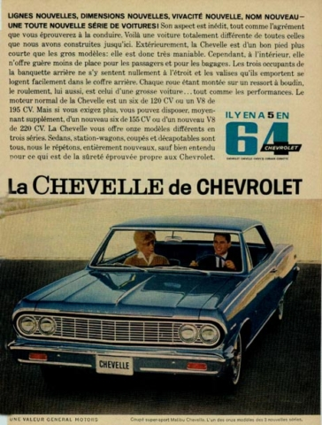 1964 Chevelle Canadian Print Ad