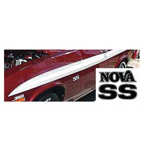 1973 Nova SS Stripe Kit White