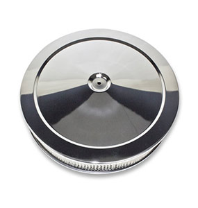 1967-1992 Chevy Camaro 14 X 3 Muscle Car Style Chrome Air Cleaner Set, Paper Element, Recessed Base