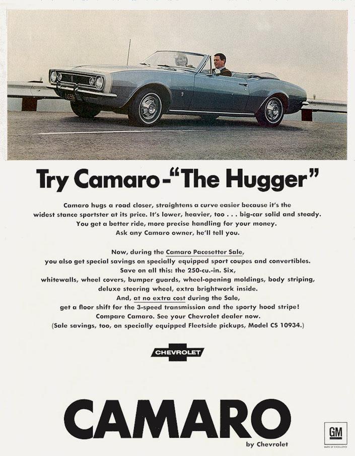 """Try Camaro - """"The Hugger"""" (1967)"""