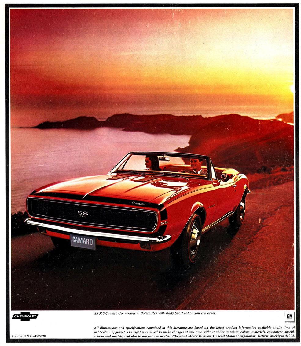 1967 Camaro OEM Brochure