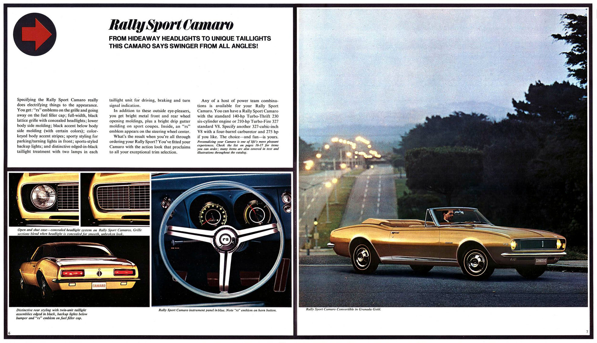The new Rally Sport Camaro By Chevrolet (1967)