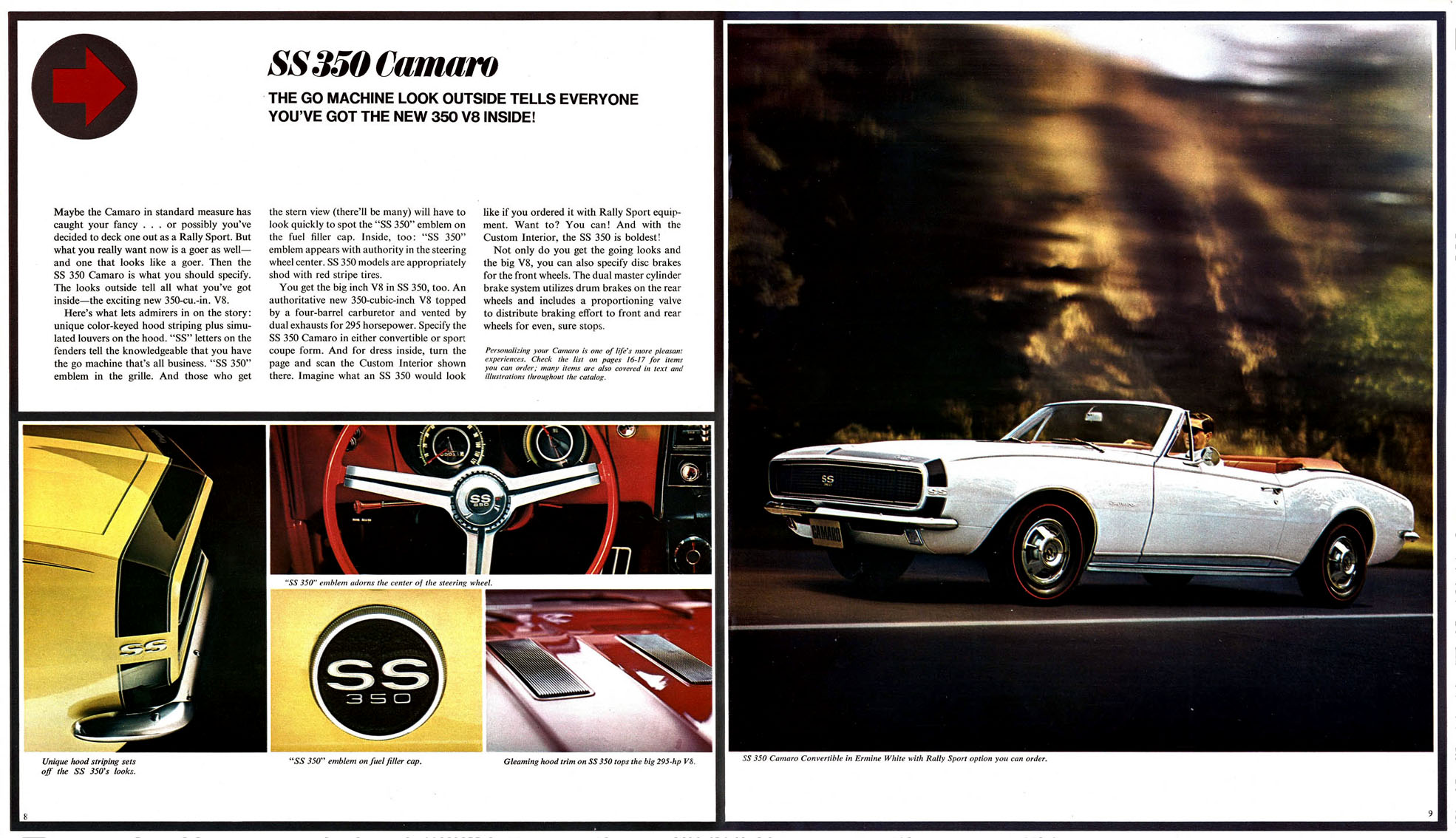 All new SS 350 Camaro by Chevrolet (1967)