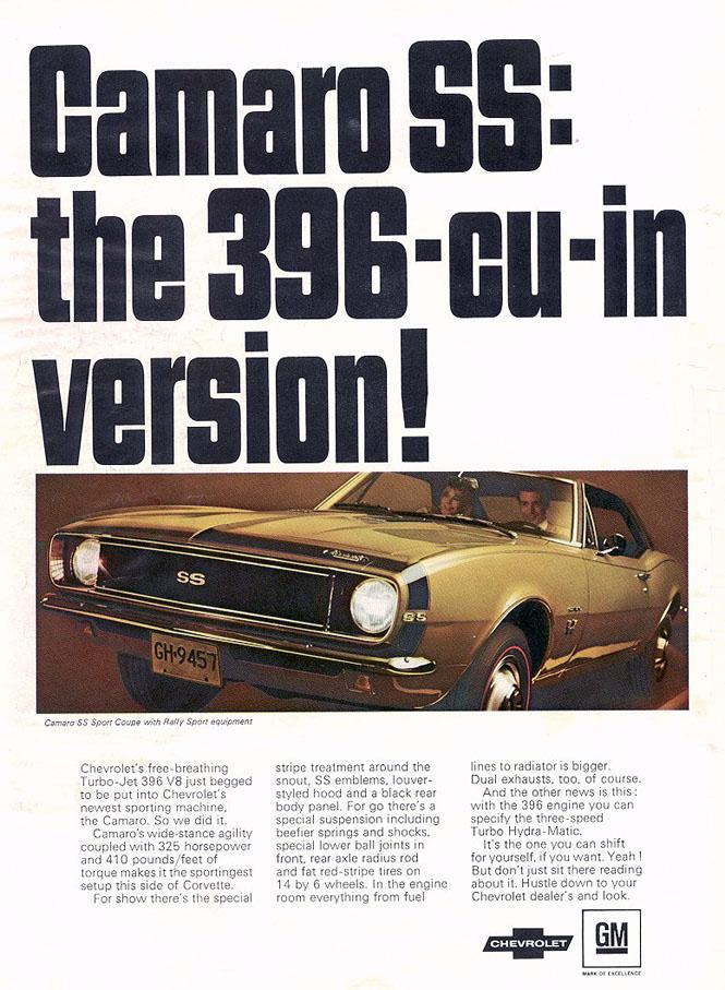 Camaro SS: The 396-cu-in Version!