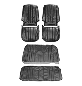 1969 Chevelle Coupe Bucket Seat Cover Kit, Black