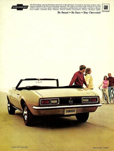 1968 Camaro. Be Smart, Be Sure, Buy Chevrolet!