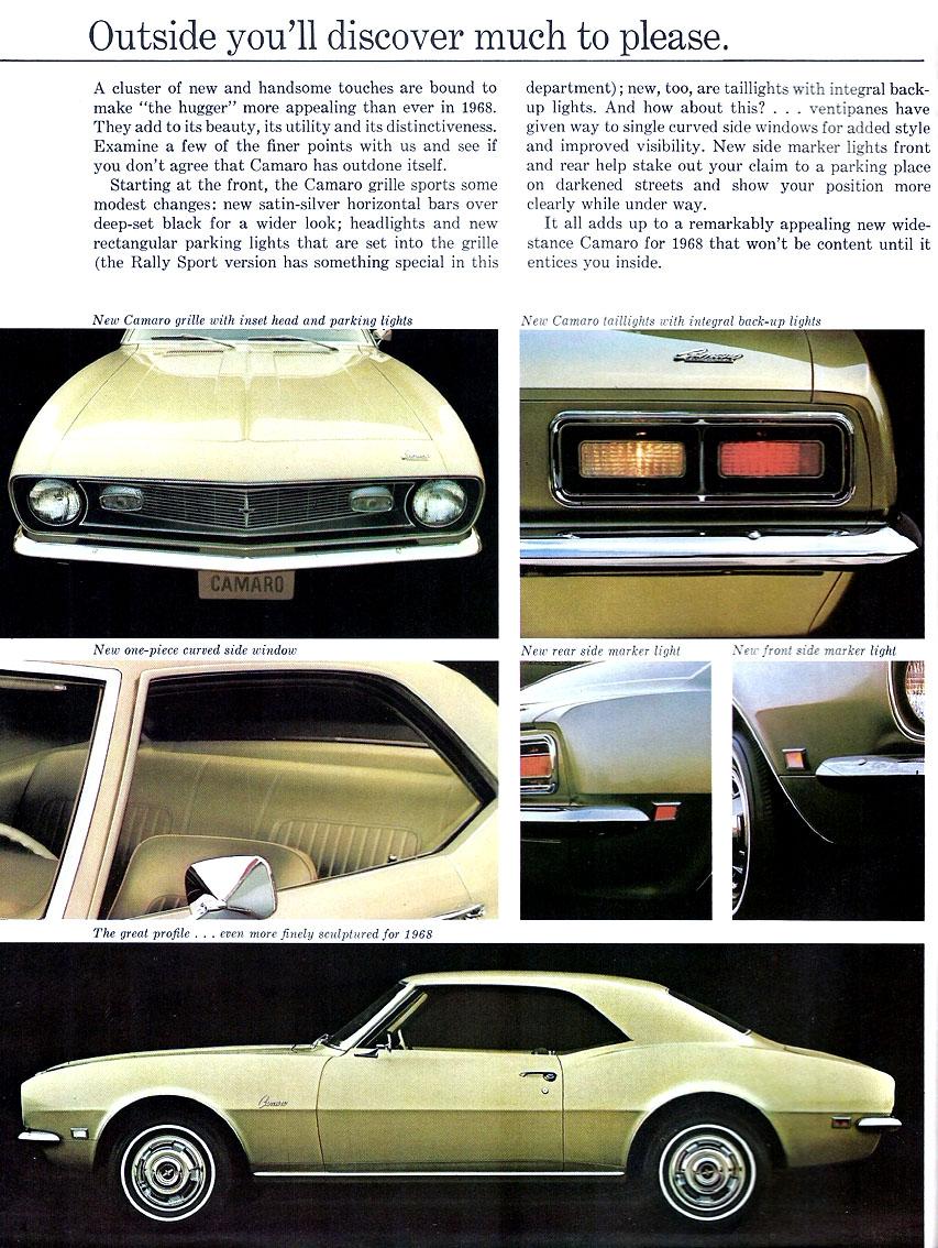 1968 Camaro Exterior Features