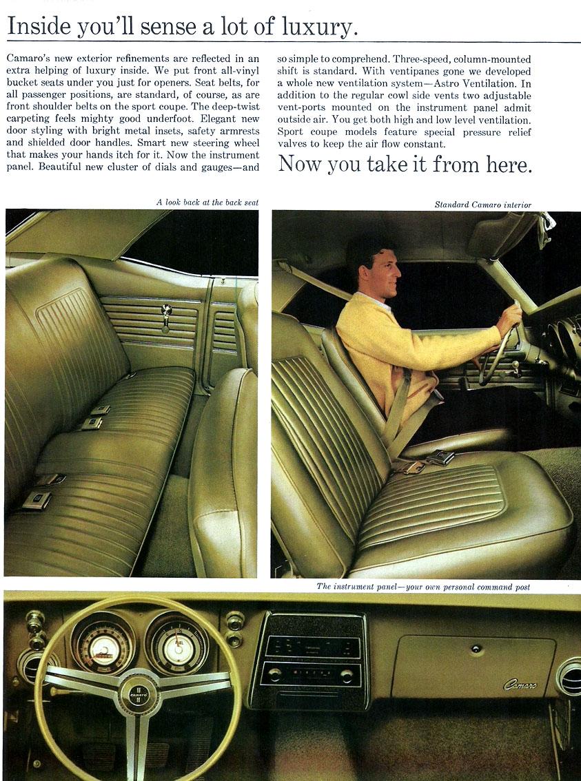 1968 Camaro Interior Features