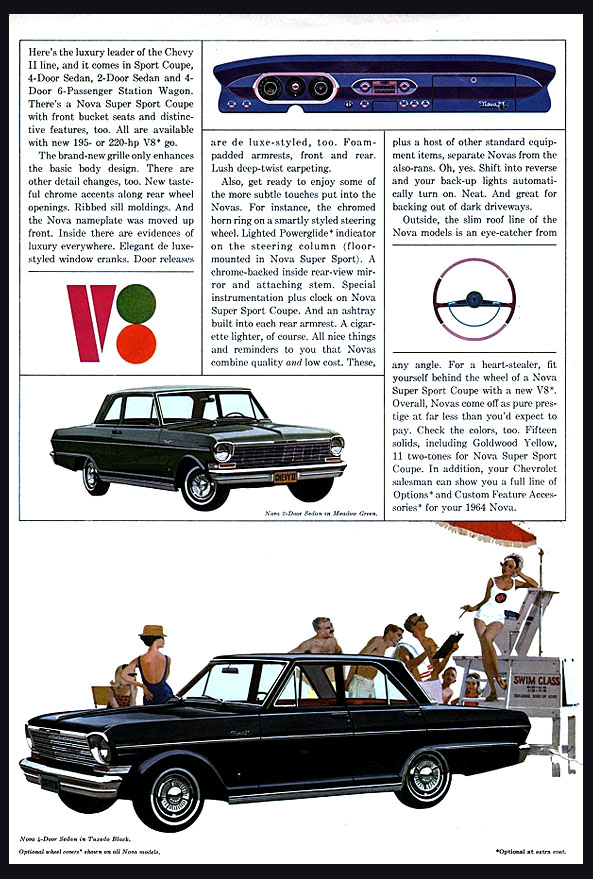 1964 Chevy II Nova OEM Brochure