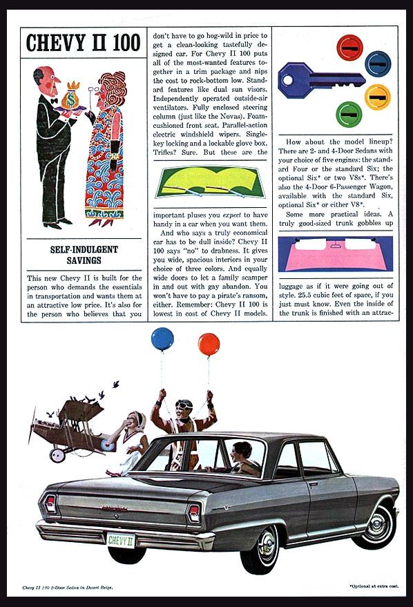 1964 Chevy II 100 OEM Brochure