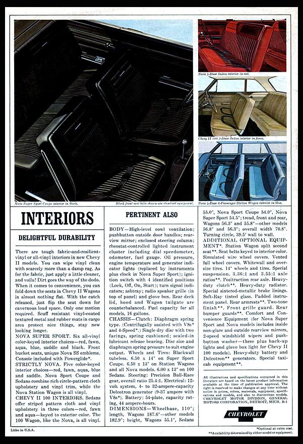 1964 Chevy II Interiors
