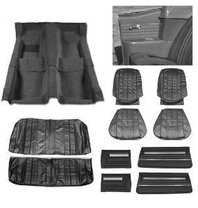 1966 Chevelle Convertible Super Interior Kit For Bucket Seats, Black