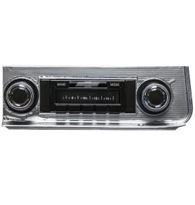 1966 El Camino Custom AutoSound USA-630 AM/FM Stereo 300 Watts Chrome: CAM-CH67-630