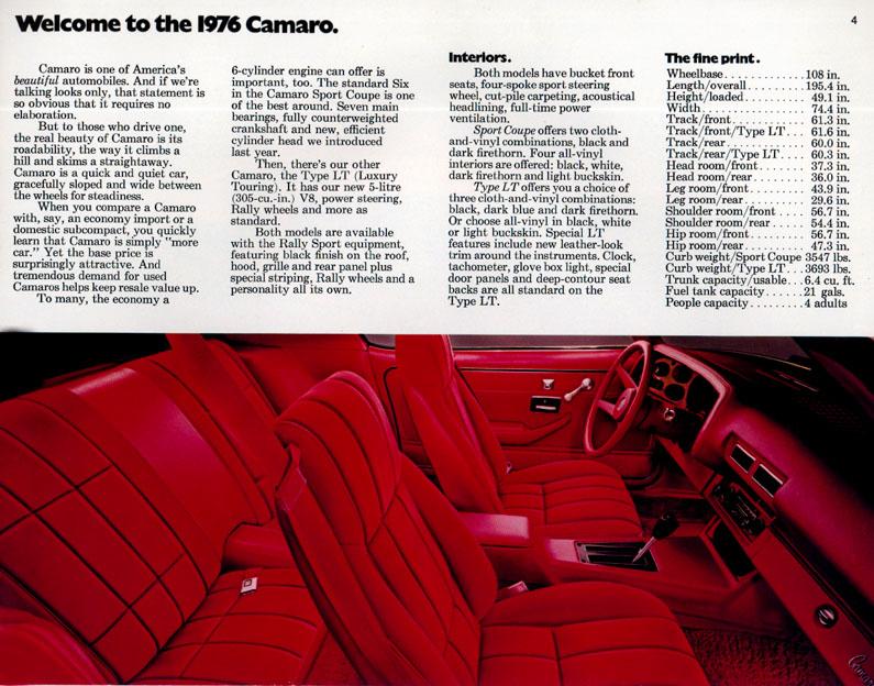 1976 Camaro OEM Brochure (4)