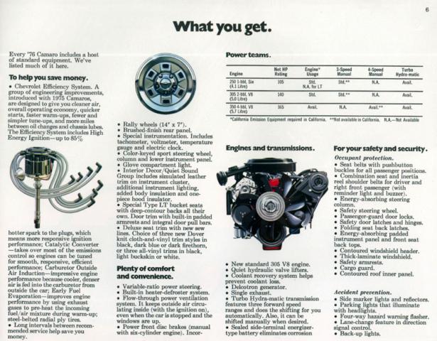1976 Camaro OEM Brochure (6)