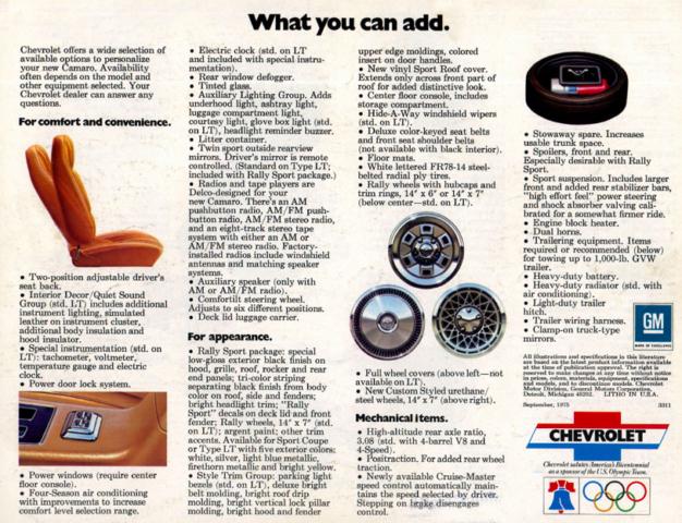 1976 Camaro OEM Brochure (8)