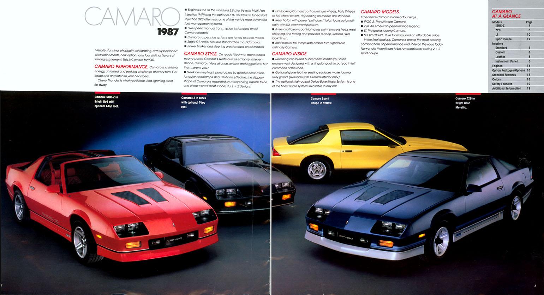 1987 Camaro OEM Brochure (2)