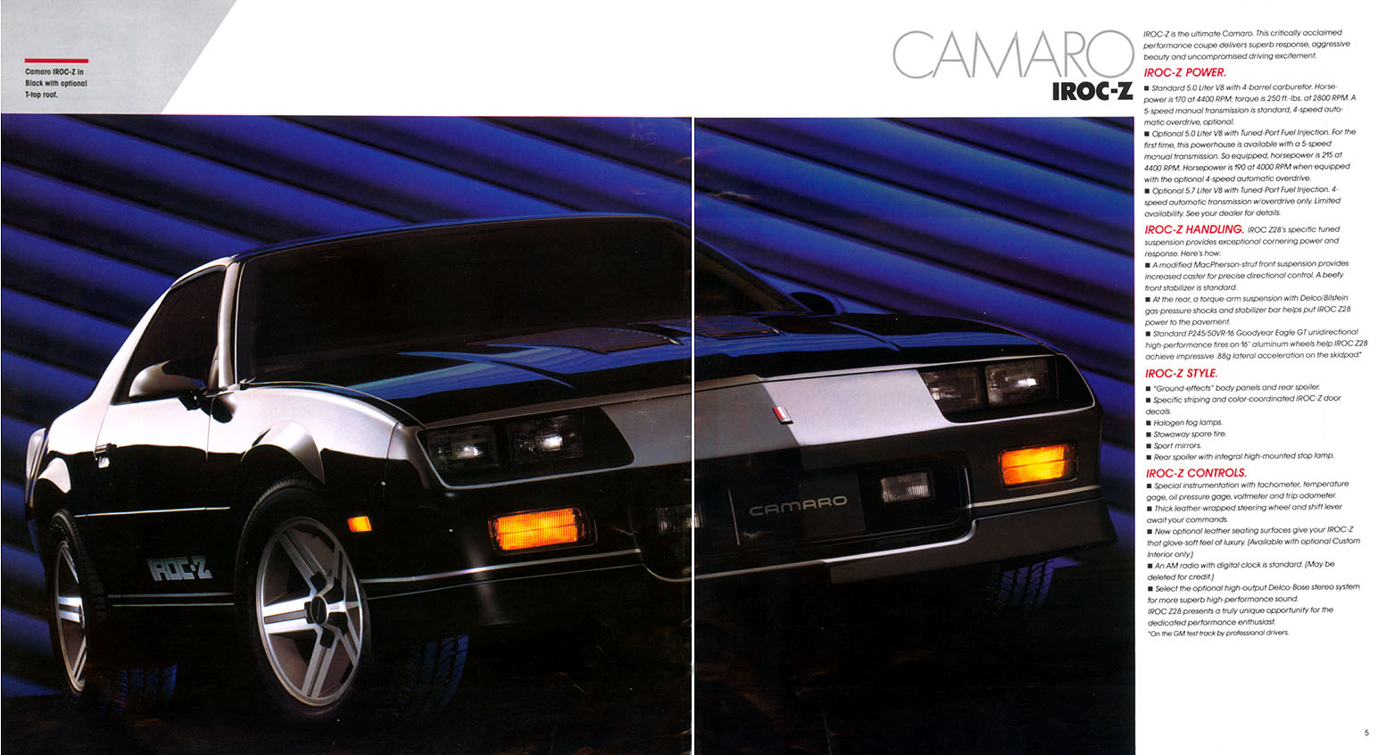 1987 Camaro OEM Brochure (3)