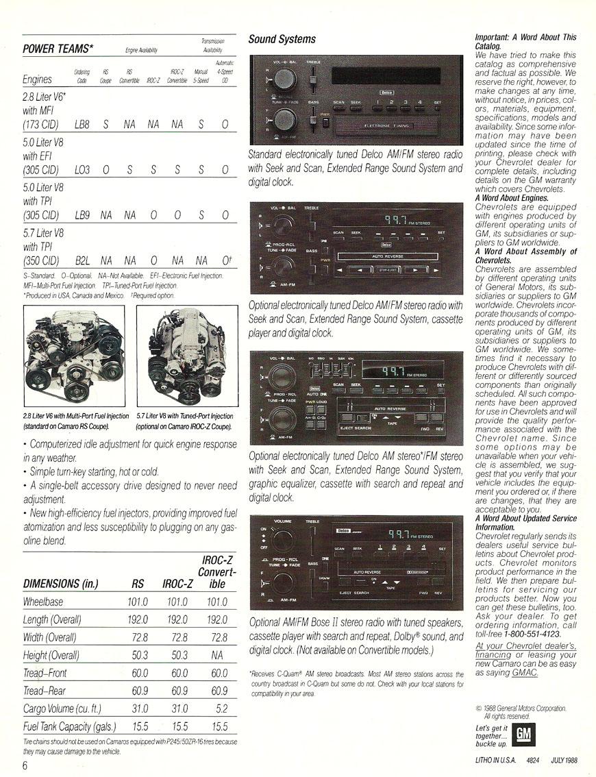 1989 Camaro OEM Brochure (5)