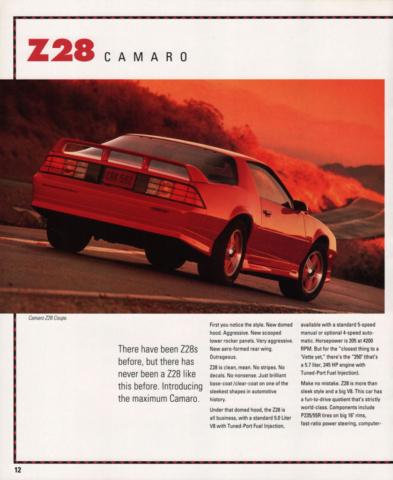 1991 Camaro OEM Brochure (9)