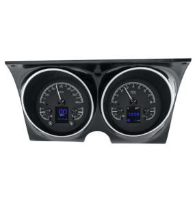 1967 Camaro 1968 Camaro Dakota Digital HDX Instrument System - Black Alloy Gauge Face